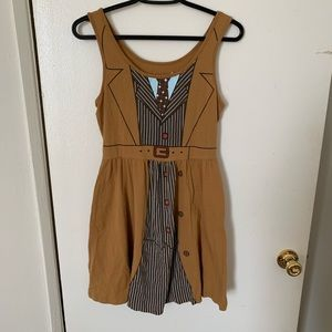 Her Universe Dr. Who Brown Dress Size M